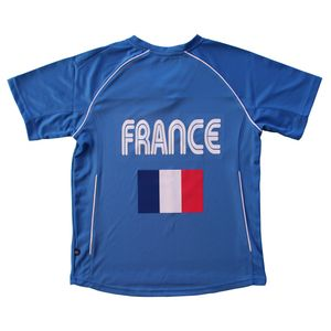 Football adulte PATOUTATIS Maillot football ADULTE supporter équipe de France - T-shirt polyester col V JN386 - bleu roi