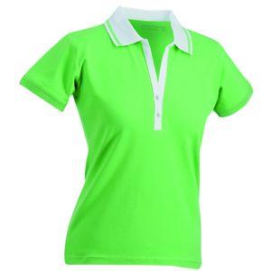 Mode- Lifestyle femme JAMES & NICHOLSON Polo femme manches courtes col V - JN158 - vert citron