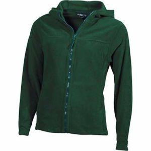 Mode- Lifestyle femme JAMES & NICHOLSON Veste polaire zippée et à capuche femme - JN146 - vert foncé