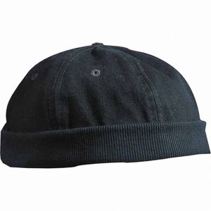 Mode- Lifestyle adulte MYRTLE BEACH Bob - bonnet marin docker - velours - MB022 - noir