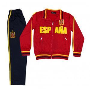 SURVETEMENT FOOTBALL Football adulte FASHION Jogging survêtement foot ESPAGNE enfant rouge Taille de 4 à 14 ans