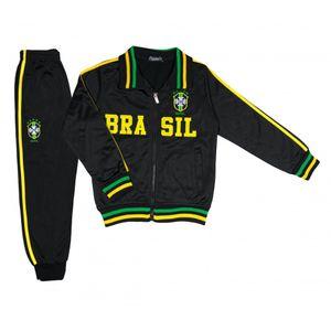 SURVETEMENT FOOTBALL Football adulte FASHION Jogging survêtement foot Brésil enfant noir Taille de 4 à 14 ans