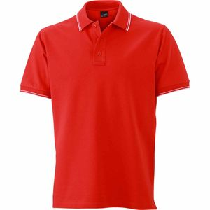 Mode- Lifestyle homme JAMES & NICHOLSON Polo homme - JN986 - rouge tomate