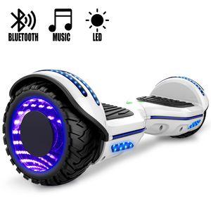 COOL&FUN COOL&FUN Hoverboard Gyropode Bluetooth 6.5 pouces, Roues lumineuses à LED de couleur et Bande de LED, Blanc