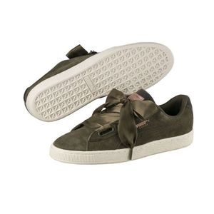 Mode- Lifestyle femme PUMA Chaussures Puma Suede Heart VR Olive Do You Velours