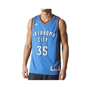 Mode- Lifestyle homme ADIDAS Maillot Swingman K. Durand  Oklahoma City Thunder Bleu Homme Basketball Adidas