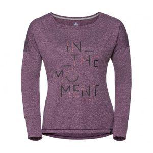 running femme ODLO Odlo - Helle Manche longue Femmes chemise de course (pourpre)