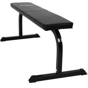 Musculation homme AUTRE Banc de musculation plat abdominaux haltères sport fitness musculation Helloshop26 0701087