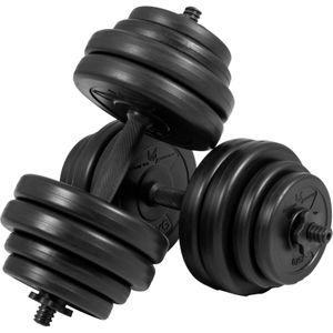 Musculation  GYRONETICS Gorilla Sports - Gyronetics E-Series barres courtes 30 kg (paire de 2 x 15kg) GN001