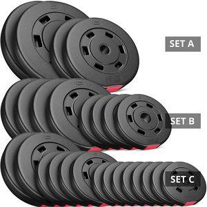 Musculation  HOP-SPORT Hop-Sport Poids Disques en Plastique Set 30 kg (2x10 kg 2x5 kg)