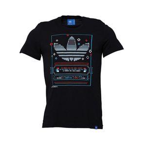 Mode- Lifestyle homme ADIDAS Tee-shirt Noir Homme  Adidas Pixel
