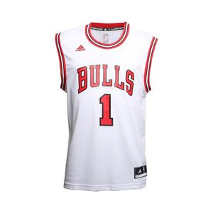 Mode- Lifestyle homme ADIDAS Maillot Replica D. Rose Chicago Bulls Blanc Homme Basketball Adidas