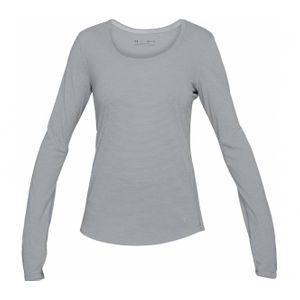 running femme UNDER ARMOUR Under Armour - Threadborne Streaker Manche longue Femmes t-shirt de course (gris)