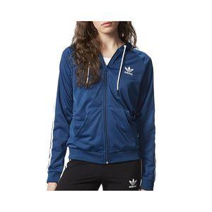 Mode- Lifestyle femme ADIDAS Sweat à capuche Slim Hoodie Bleu Femme Adidas