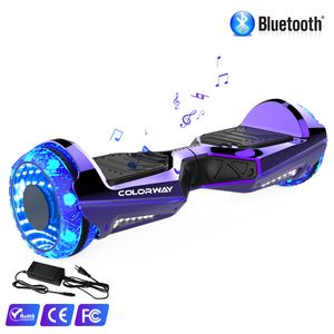 Colorway Hoverboard Colorway CX911 - Bluetooth + APP - 6.5 Pouces Violet, Gyropode Overboard Smart Scooter certifié