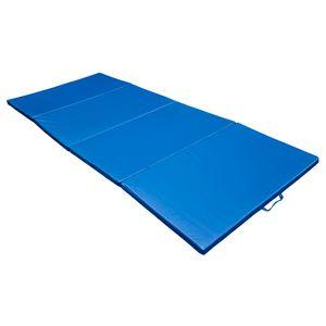 Yoga  HOMCOM Tapis de sol gymnastique natte de gym matelas fitness pliable portable 8 pied bleu 30