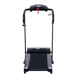Fitness  HOMCOM Tapis roulant de course électrique pliable programmable 123 x 62 x 117 cm noir 30