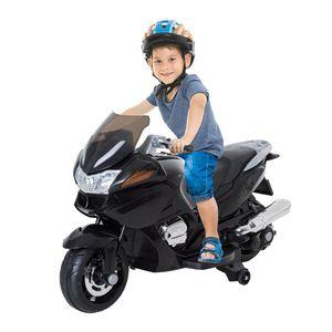 Jeux divers  HOMCOM Moto scooter électrique enfants 12 V roulettes amovibles LED effets musicaux ports USB MP3 120L x 60l x 65H cm