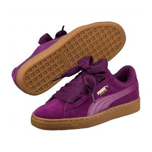 Mode- Lifestyle femme PUMA Chaussures Puma Suede Heart SNK Purple