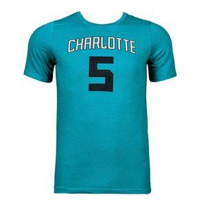 Basketball garçon NBA Tee-shirt à manches courtes NBA Branded Flat Replica N.N SS Tee Charlotte Hornets Junior