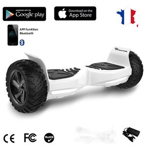 Glisse urbaine  EVERCROSS EVERCROSS Hoverboard Challenger G2 8.5 pouces,  Gyropode Overboard SUV Hummer Tout Terrain avec Bluetooth, Blanc
