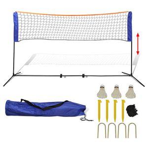 VIDAXL vidaXL Filet de badminton avec volants 500 x 155 cm