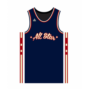 Basketball adulte PEAK Maillot All Star game Paris 2018 Peak Sélection Française Bleu marine Taille - L