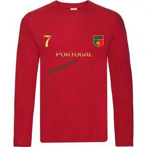 Mode- Lifestyle enfant NPZ Tee shirt manches longues Foot enfant Portugal  Taille 3 é 14 ans - 3 / 4 ans rouge