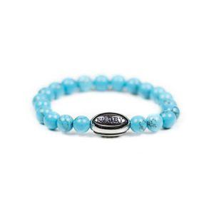 ELEGANT VIOLENCE RUGBY Bracelet rugby - Premium Rugby Life Bracelet - turquoise/argent - Elegant Violence Rugby -