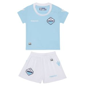 Football garçon MACRON Mini-kit domicile junior Lazio Rome 2017-2018 (sans sponsor)-6 mois