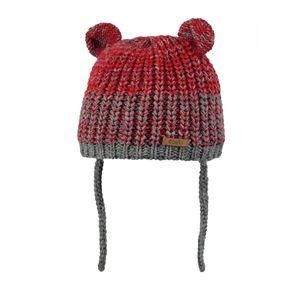 Ski Bébé BART'S BARTS-Bonnet maille chiné rouge bordeaux 2 pompons Bébé Fille du 1 au 3 ans Barts