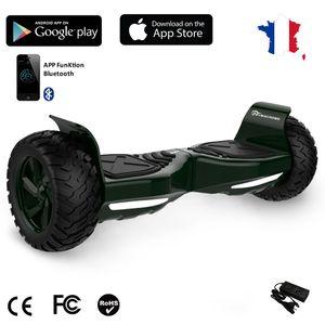 Glisse urbaine  EVERCROSS EVERCROSS Hoverboard Bluetooth 8.5 pouces,  Gyropode Overboard avec Fontion Application, SUV Hummer Tout Terrain, Vert foncé