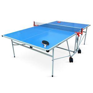 Tennis de table  ALICE'S GARDEN Table de ping pong OUTDOOR bleue, avec 2 raquettes et 3 balles, pour utilisation extérieure, sport tennis de table
