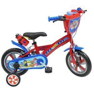 Cycle enfant NICKELODEON Vélo  12 Licence Pat Patrouille pour enfant de 2 à 4 ans avec stabilisateurs à molettes