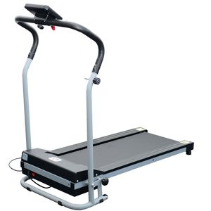 Fitness  HOMCOM Tapis roulant de course electrique fitness argent-noir 98