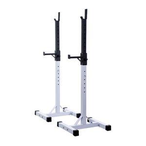 Musculation  HOMCOM Stockage/support de musculation entrainement pour barre longue haltere charge max 200kg 14