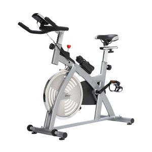 HOMCOM Vélo d'appartement cardio vélo biking capteurs de pouls intégrés + écran LCD multifonction argenté