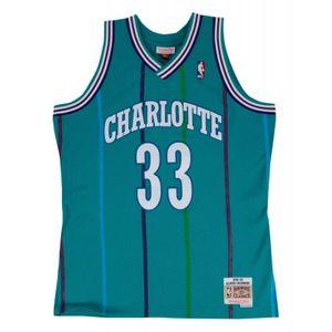 Basketball adulte MITCHELL & NESS Maillot NBA Alonzo Mourning Charlotte Hornets 1992-93 Mitchell & ness Hardwood Classic swingman Bleu Taille - S