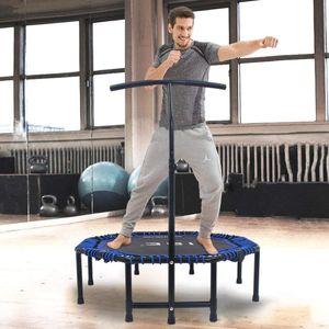 ISE ISE Trampoline de Fitness Pliable Trampoline de Gym 118cm Poignée réglable 116-132cm (Bleu) SY-TGB-BL
