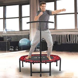 ISE ISE Trampoline de Fitness Pliable Trampoline de Gym 118cm Poignée réglable 116-132cm (Rouge) SY-TGB-RE