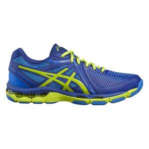 Volley ball homme ASICS Chaussures Asics Gel Netburner Ballistic bleu/vert/blanc