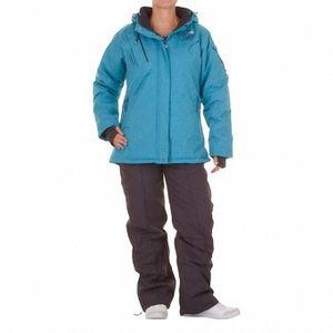 Ski alpin femme PEAK MOUNTAIN Peak Mountain   Ensemble de ski AZLY   Turquoise/noir