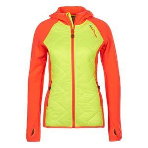 Ski alpin femme PEAK MOUNTAIN Peak Mountain - Blouson polar shell bi-mati�re femme ACERLA-jaune/orange