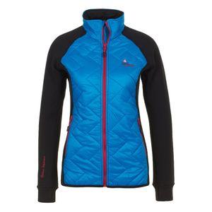 Ski alpin femme PEAK MOUNTAIN Peak Mountain - Blouson polar shell bi-mati�re femme ACERBI-noir/turquoise