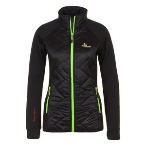Ski alpin femme PEAK MOUNTAIN Peak Mountain - Blouson polar shell bi-mati�re femme ACERBI-noir/noir