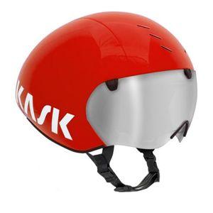 KASK Casque Kask Bambino Pro rouge avec visière transparente