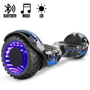 COOL&FUN COOL&FUN Hoverboard Gyropode Bluetooth 6.5 pouces, Roues lumineuses à LED de couleur et Bande de LED, Camouflage