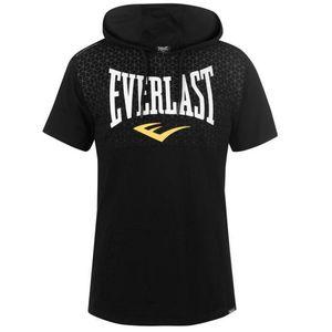 Multisport homme EVERLAST Nouveau Sweat-shirt à Capuche Manches Courtes Everlast Noir Saison 2018/2019 + 1 T-shirt Offert
