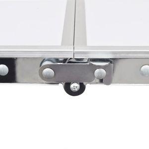 GENERIQUE Matériel de camping Superbe Table pliante de camping en aluminium avec hauteur ajustable