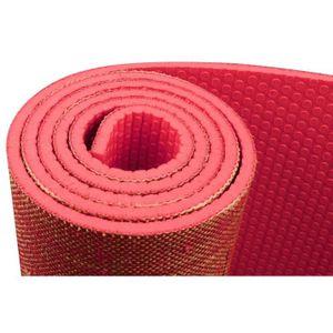 GENERIQUE TAPIS DE SOL - TAPIS DE GYM - TAPIS DE YOGA  Tapis de yoga finition jute 6 mm - Corail